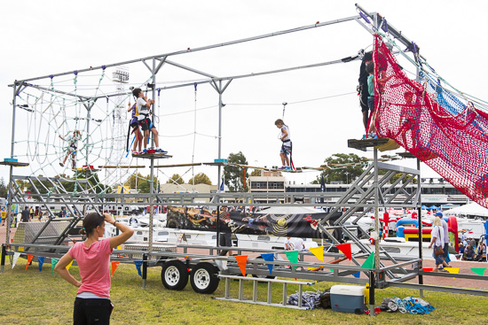 high rope course_monsterball amusements hire
