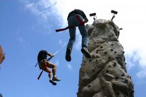 Radrock Climbing Wall: Coming Down!